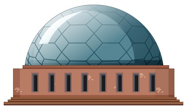 Maschera isolata di costruzione moderna