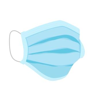 Maschera medica in design piatto