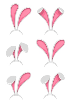 Maschera orecchie di coniglio di pasqua