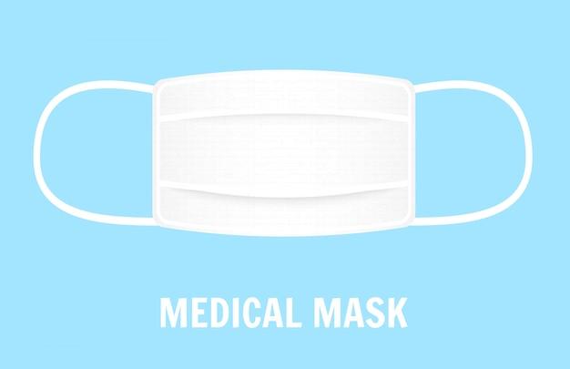 Maschera per coprire la bocca e il naso. concetto di protezione. illustrazione