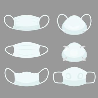 Maschera per inquinamento dell'aria, allergia ai dispositivi di protezione per l'ospedale maschere mediche per prevenire lo smog e il virus