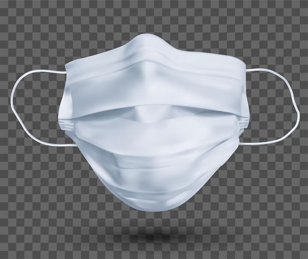Maschera protettiva o mascherina medica. per proteggere il coronavirus e l'infezione. maschera medica isolata su sfondo trasparente. illustrazione realistica