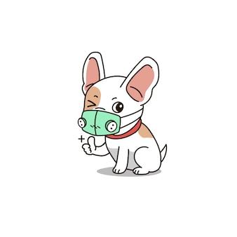 Maschera respiratore indossando cane carino