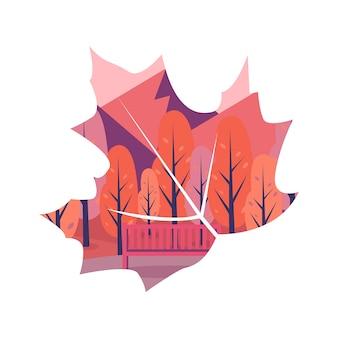 Mascheramento foglia d'autunno