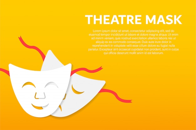 Maschere teatrali di commedia e tragedia