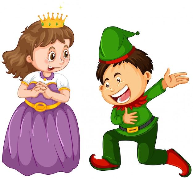 Maschio e femmina in costume di fantasia