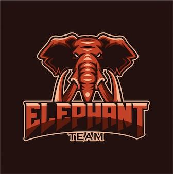 Mascotte con logo dell'elefante