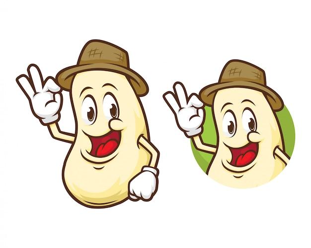 Mascotte contadina di soia