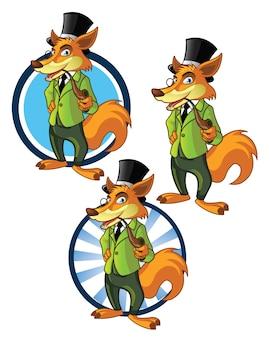 Mascotte dei cartoni animati di dandy fox