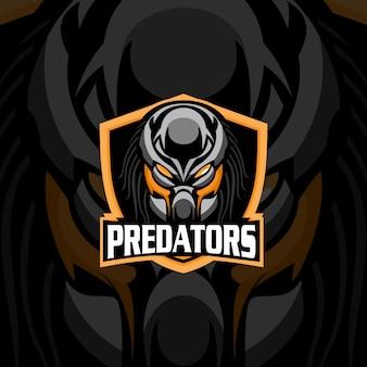 Mascotte del logo dei predatori per esport / sport