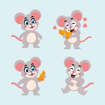 Mascotte del personaggio dei cartoni animati del topo del ratto