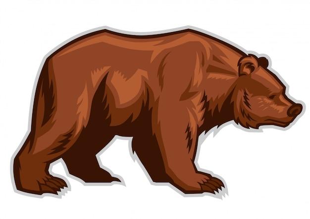 Mascotte dell'orso bruno