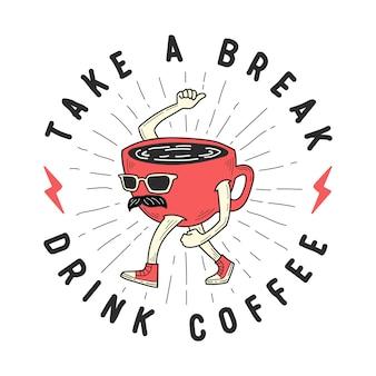 Mascotte della tazza di caffè