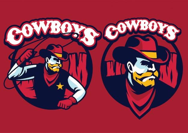 Mascotte dello sceriffo con lazo