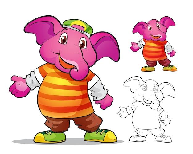 Mascotte di elefano