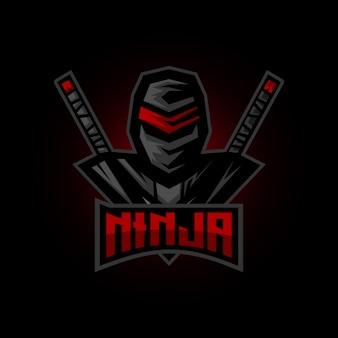 Mascotte di gioco ninja esports logo