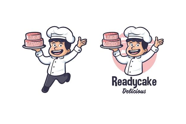 Mascotte di torta chef logo