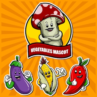 Mascotte di verdure