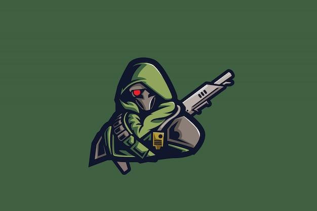 Mascotte esport verde hunter