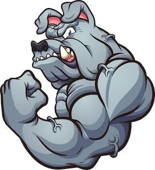 Mascotte forte bulldog