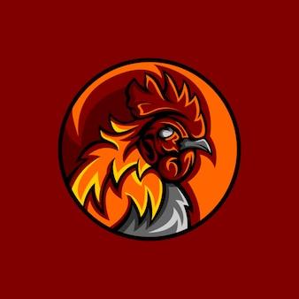 Mascotte gallo rosso