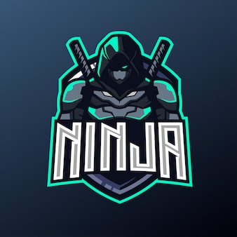 Mascotte ninja per sport e logo esport