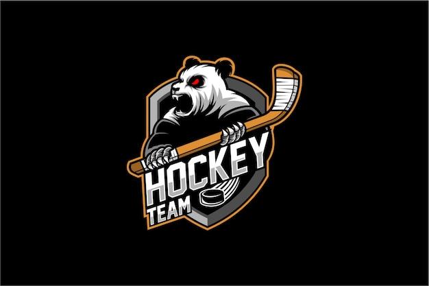 Mascotte pand hockey su ghiaccio