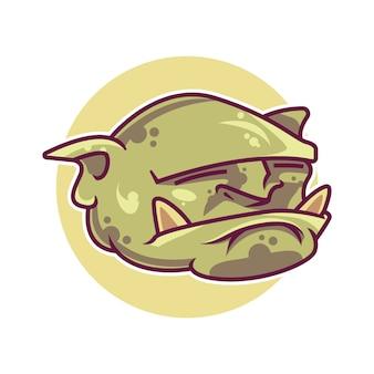 Mascotte testa di goblin