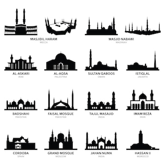 Masjid al-haram mecca e altra famosa moschea
