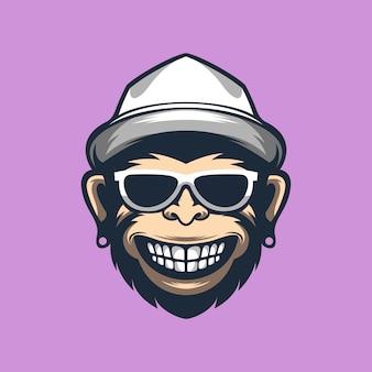 Maskot di scimmia divertente