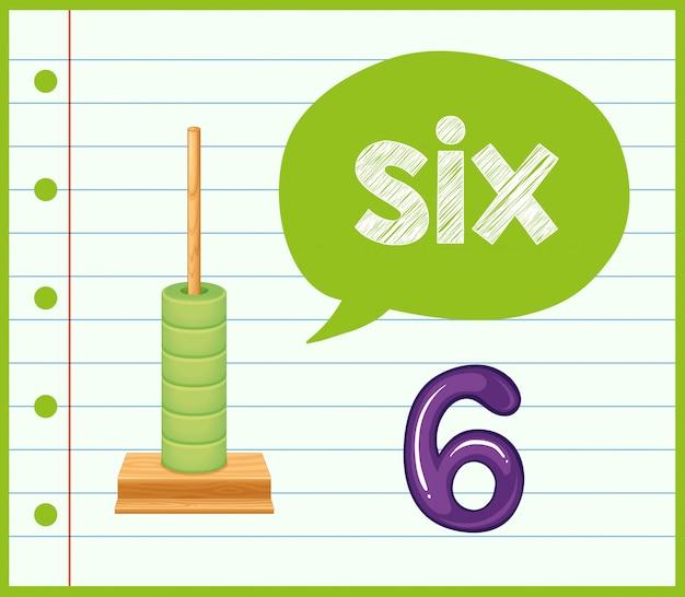 Matematica contando il numero sei