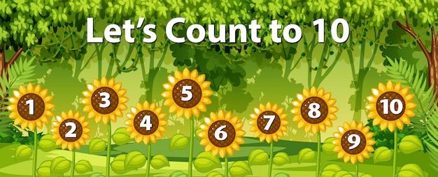 Matematica contare numero sfondo foresta