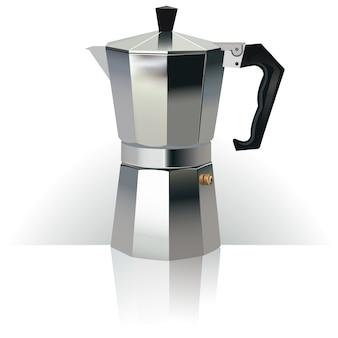 Materiale illustrativo realistico 3d della macchinetta del caffè