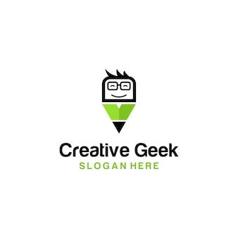 Matita con logo creative geek