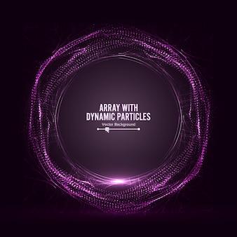 Matrice con particelle dinamiche vector con splash
