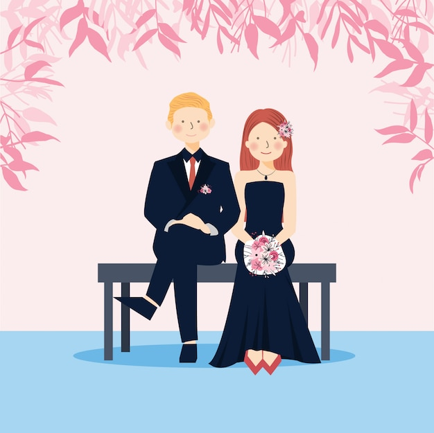 Matrimonio coppia carina salva la data