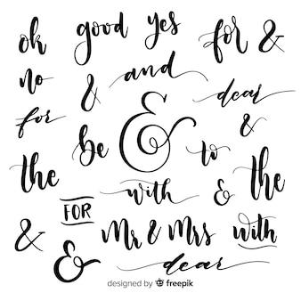 Matrimonio e scritte di parole d'ordine e slogan