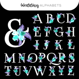 Matrimonio floreale alfabeti hibiscus