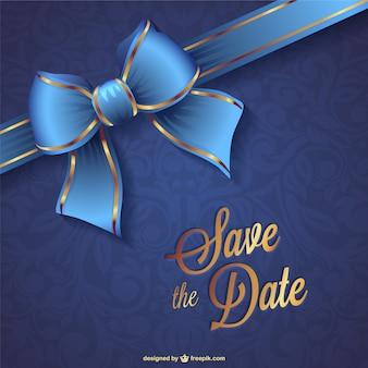 Matrimonio salvare la data vettore