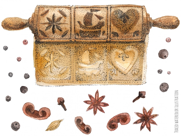 Mattarello pan di zenzero