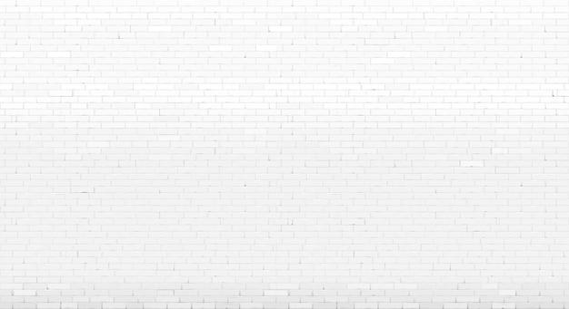Mattone dipinto vecchio bianco della parete del fondo
