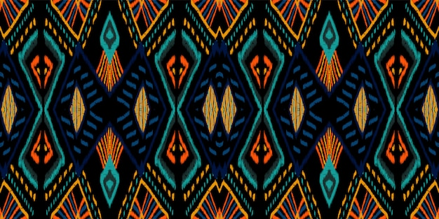 Mattonelle dell'oceano astratto. modello senza cuciture tribale fiordaliso. trama di ogee tribale del giappone. texture rustica navajo lucida. ripeti chevron aztec.