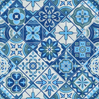 Mattonelle di patchwork senza soluzione di continuità