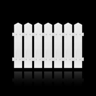 Mattonelle di recinzione bianca