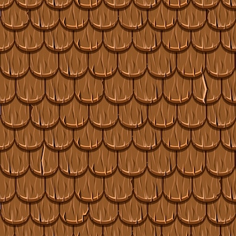 Mattonelle di tetto di legno vecchie del tetto di brown senza cuciture