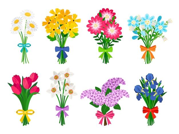 Mazzi di fiori freschi.