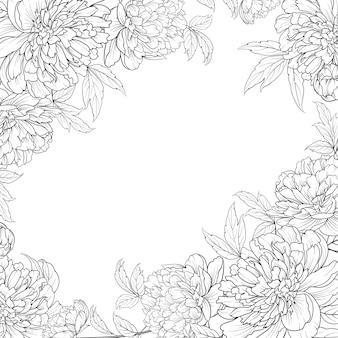 Mazzo dei fiori della primavera della ghirlanda delle peonie.