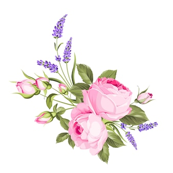 Mazzo dei fiori di cerimonia nuziale della ghirlanda del germoglio di colore.