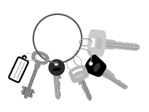 Mazzo di chiavi piatte