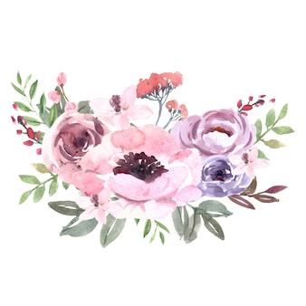 Mazzo per decorazione di copertina unica, fiori a tratto esotico